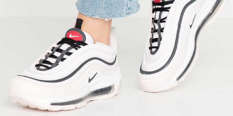 Nike Air Max 97 -  Light soft pink / black / summit white / gym red / white